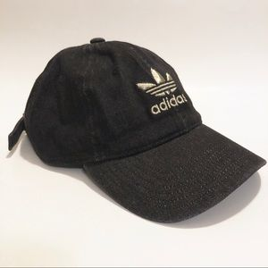 Adidas Black Denim Baseball Hat